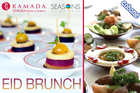 Relish a multi-cuisine Eid brunch at the Ramada Chelsea Hotel, Dubai featuring Arabic, Chinese and Indian cuisine for just AED 79 only! Valid during the three days of Eid only!