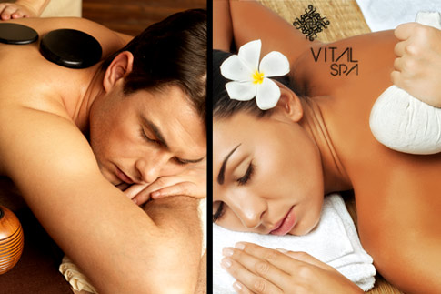 Pamper yourself with a 50-minute massage of your choice, steam bath and Jacuzzi access at the 5-star Vital Island Spa for AED 99 (Value AED 550)- Couples' package available for AED 195!