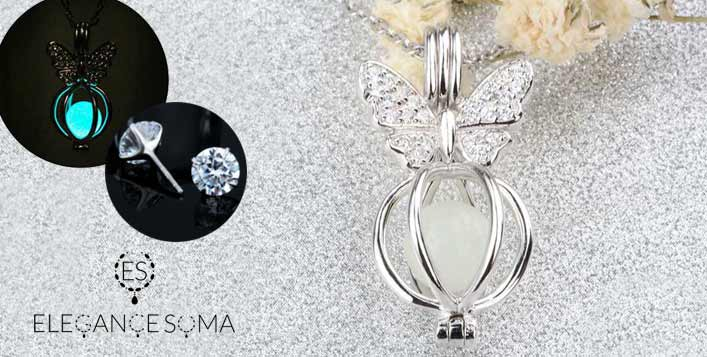 The Luminous Butterfly Silver & Zircon Set