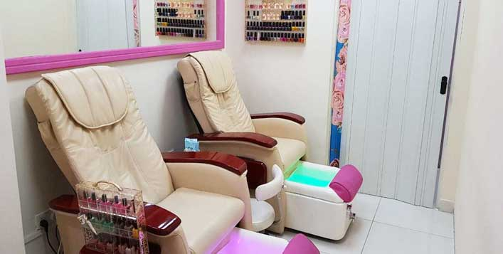 Choice of facial with classic or gelish nails