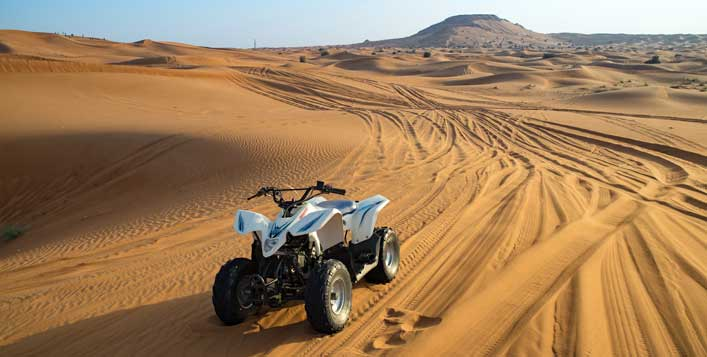 With optional quad biking experience