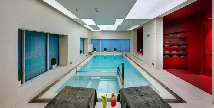 Spa, gym, pool & more for men and women