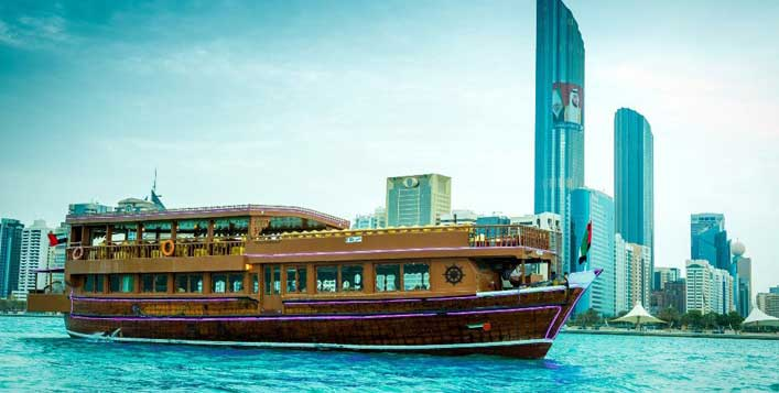 Marina or Yas Island cruise is included