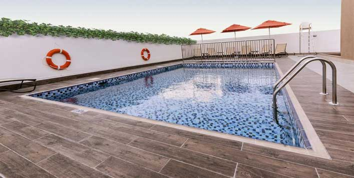 Swimming pool access is included