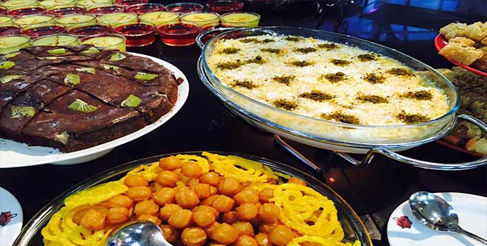 Persian, Arabic and Continental dishes