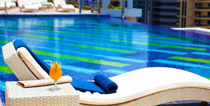 With pool & gym access at Marina Byblos Hotel