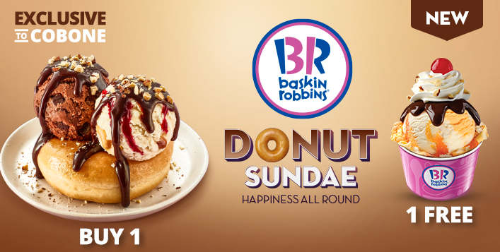 Donut Sundae + FREE Single Jr Scoop