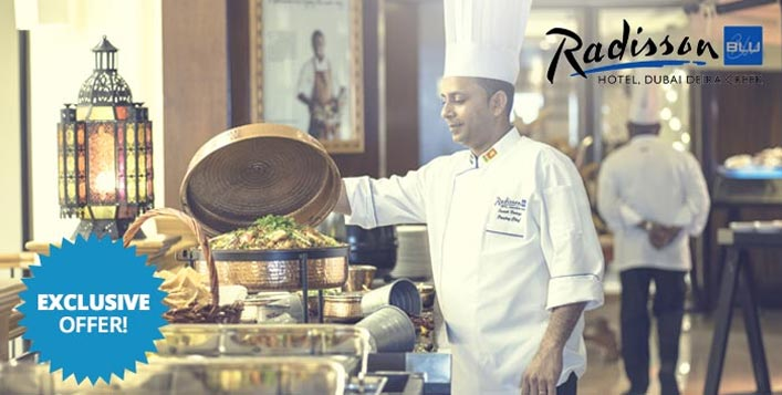 5 restaurants inside Radisson Blu Deira Creek
