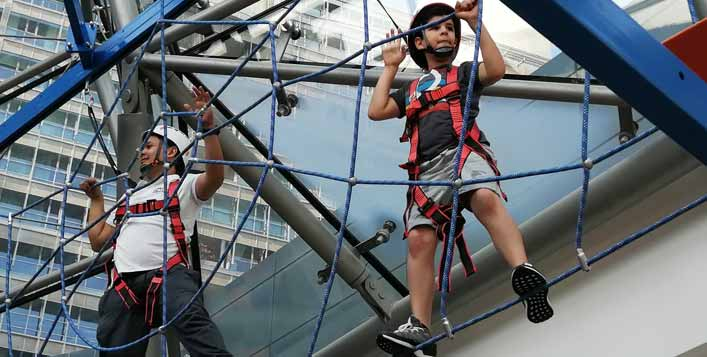 Zipline, Ropes, Ninja Warrior & Climb Wall