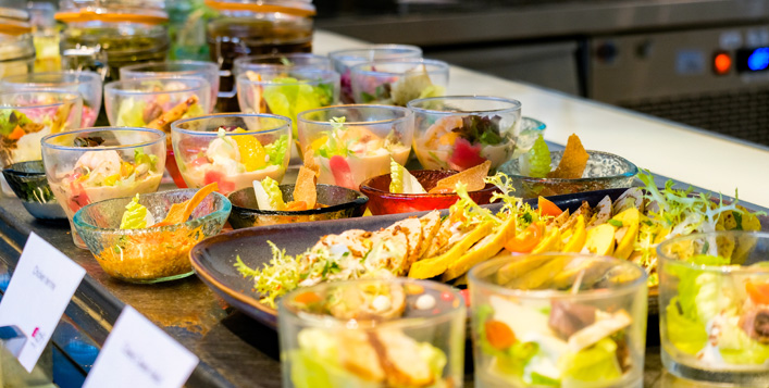 International buffet with soft beverages
