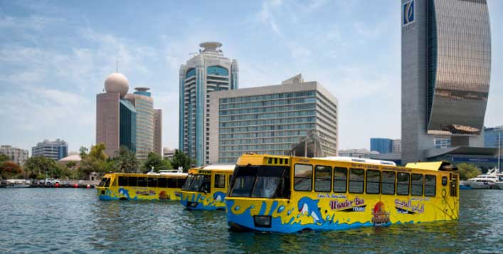 Wonder Bus ride, dhow cruise, desert safari