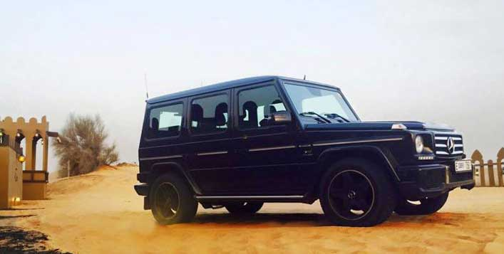 Hummer and Mercedes dune bashing available