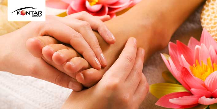 Foot reflexology @Kontar Beauty Sahara branch