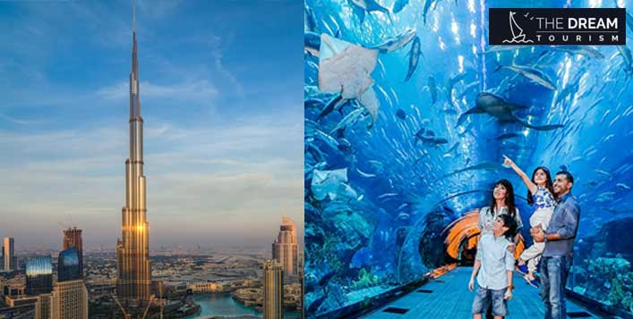 124th Floor of Burj Khalifa + Underwater Zoo