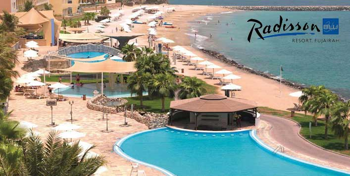 5* Radisson Blu Fujairah Day Pass + Buffet