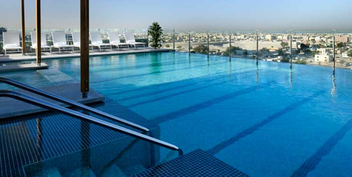 Pool, gym & spa access at Nassima Royal Hotel