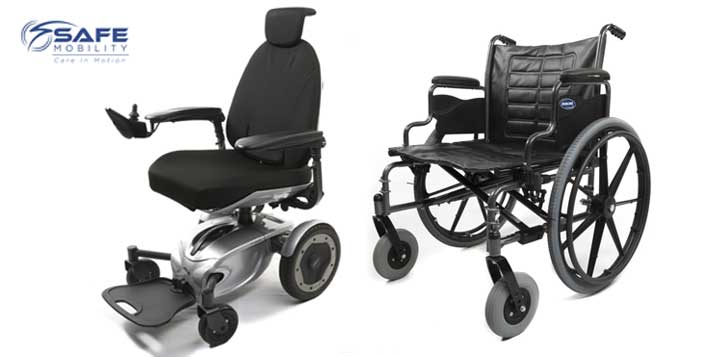 Choose from manual or power wheelchair
