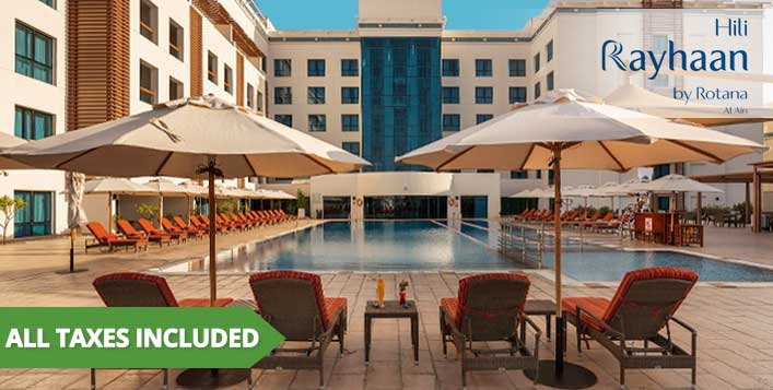 1-Night Full Board Stay at Hili Rayhaan