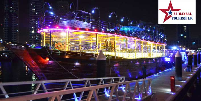 2 Hour Marina Dhow Cruise with Dinner Buffet