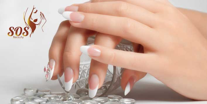 Beautiful nail extensions for hands