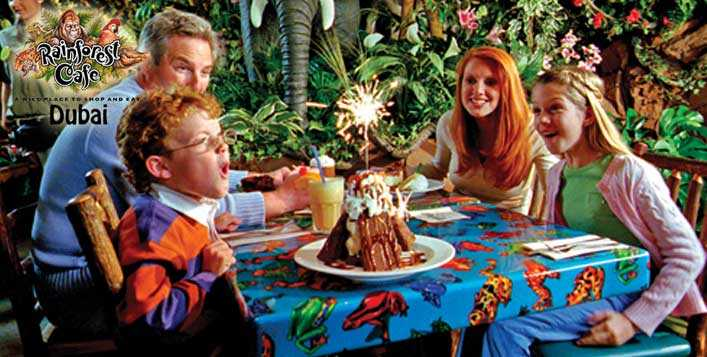 2 Hour Party Packages at Rainforest Cafe