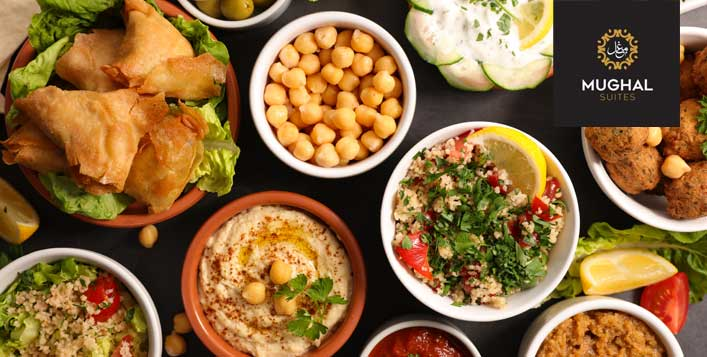 Arabic dishes with unlimited drinks