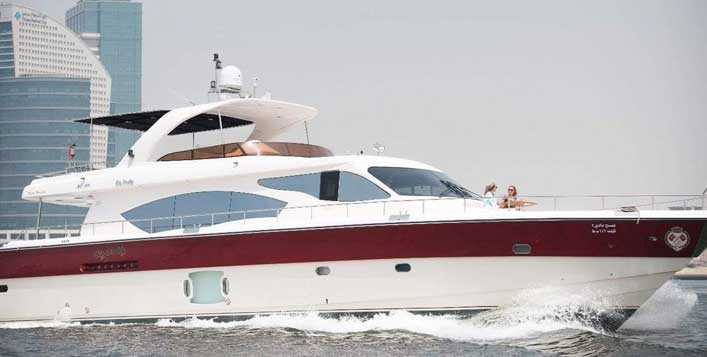 Up to 75 Ft yacht for up to 30 people!