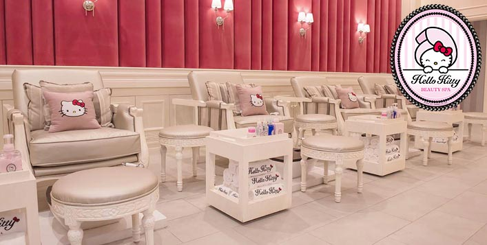 Manicure & Pedicure at Hello Kitty Beauty Spa