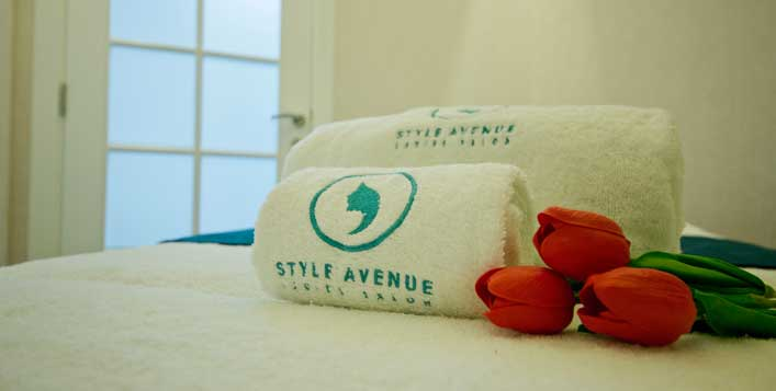 With foot relaxation at Style Avenue Salon