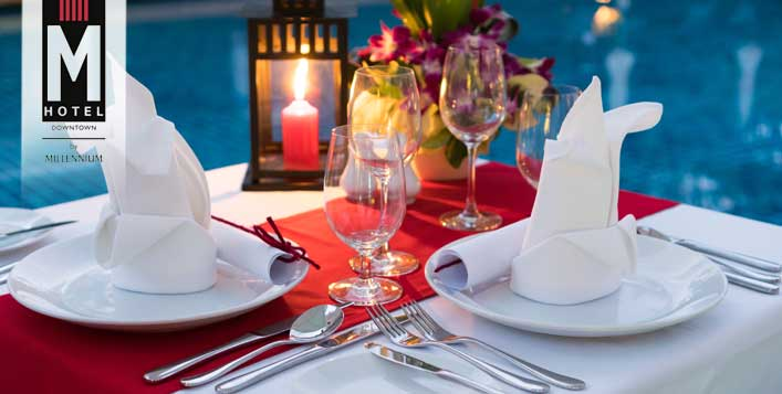 Dine under the stars or Dinner Set Menu