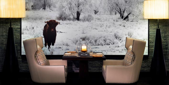 Romantic setup in an award-winning restaurant