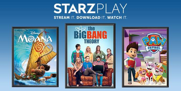 3, 6 or 12 Month STARZ PLAY Subscription