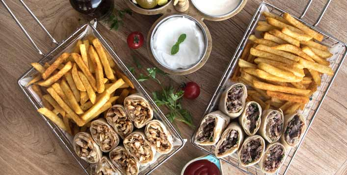 Levantine cuisine for up to 4 adults