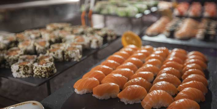 Seafood, sushi, dimsum and more
