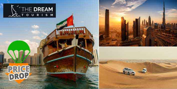 Desert Safari + Creek cruise +Dubai city tour