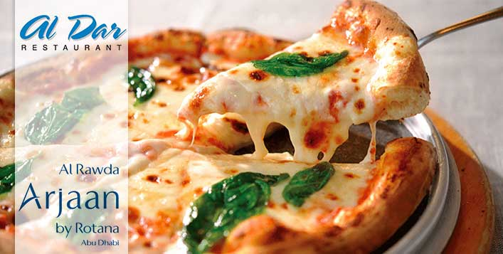Enjoy pizza & salad at Al Dar Restaurant