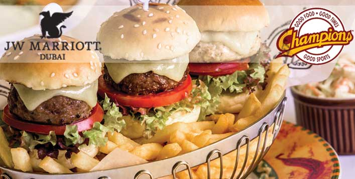 3 Mini Burgers House Beverages For AED 99