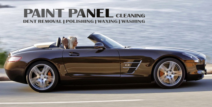 With body wash, tyre polish and vacuuming