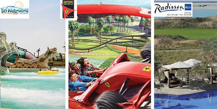 ferrari world Park with Yas Water World