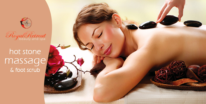 75 minutes hot stone massage & foot scrub | Cobone
