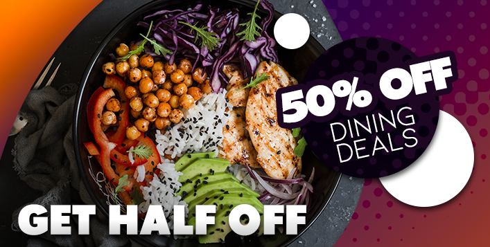 50% off food deals